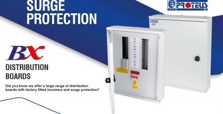 Surge protected 3-phase distribution boards